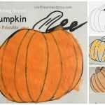 Easy pumpkin coloring projects for young kids {Free Printable}