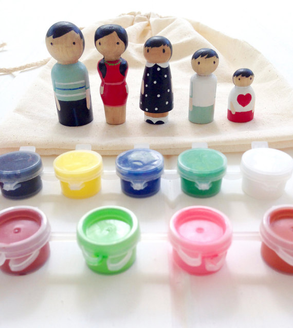 peg dolls painting set