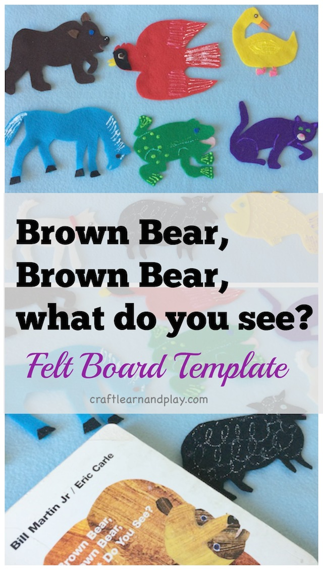 Brown bear brown bear what do you see felt board template for Felt storyboard templates