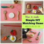 How to make simple DIY matching game when you have no time