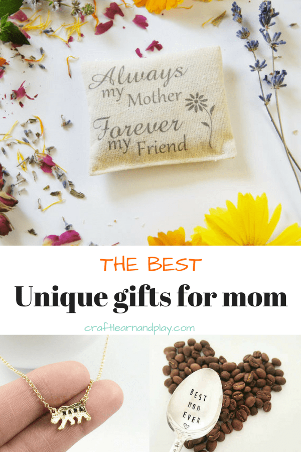 Unique gifts for moms that make special sentimental gift for mom. These mothers day gifts are handcrafted with love and would also make great birthday present for mom. Click to see more.