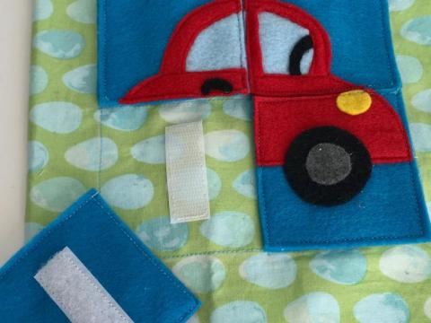 Car puzzle quiet book page PDF pattern & tutorial