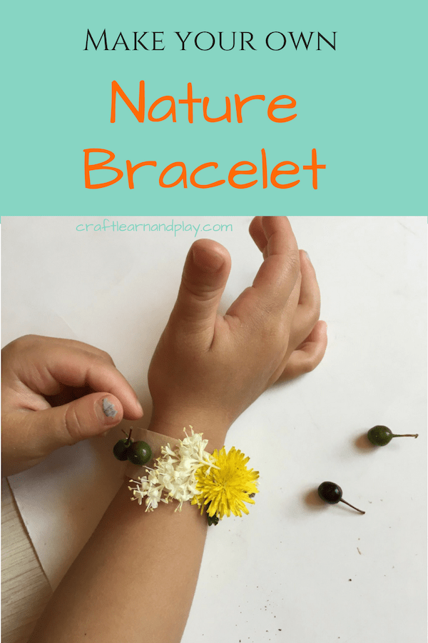 Simple and fun nature crafts for kids. Nature bracelets are perfect for summer outdoor activities and nature walks. Click to see how to make one