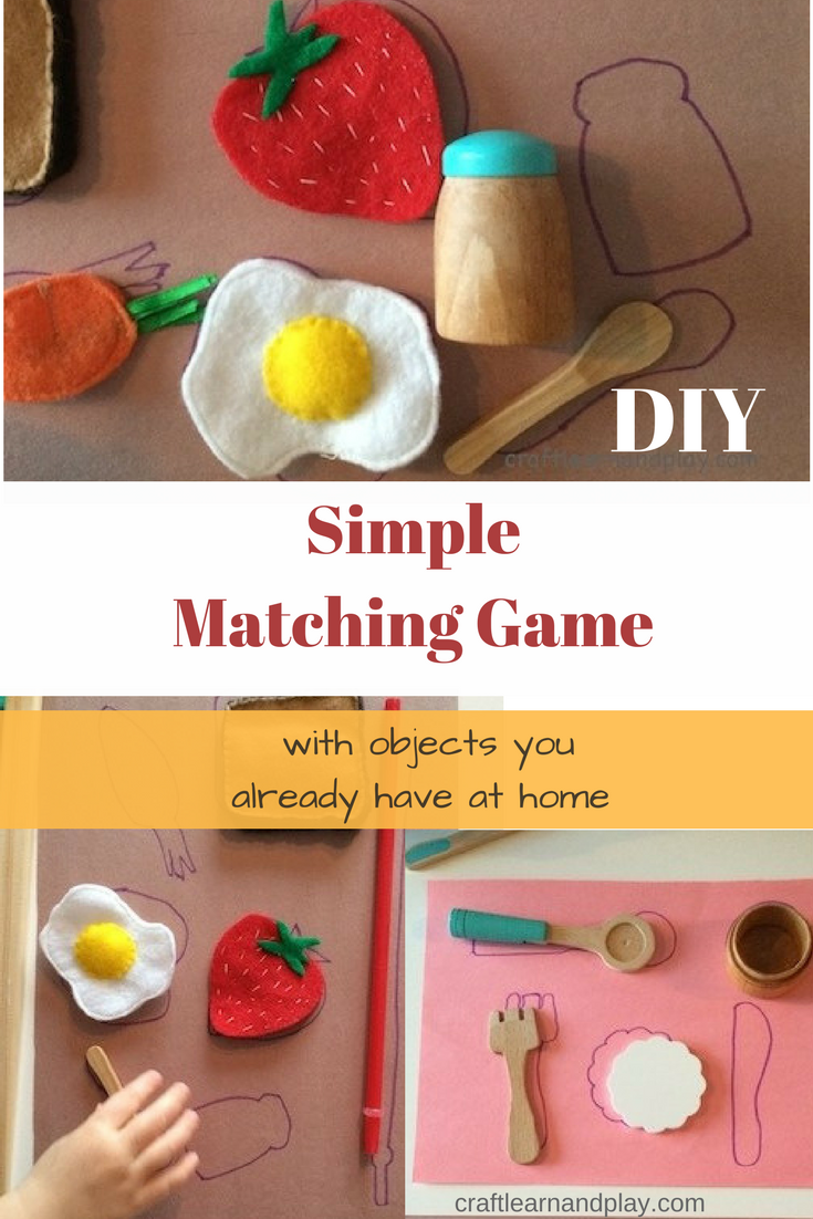 Diy Matching Game - Gomemade game for kids - Matching objects game