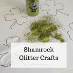 Sparkly shamrock glitter crafts for fun afternoon