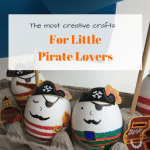 Fun and easy pirate egg decorating for little pirates
