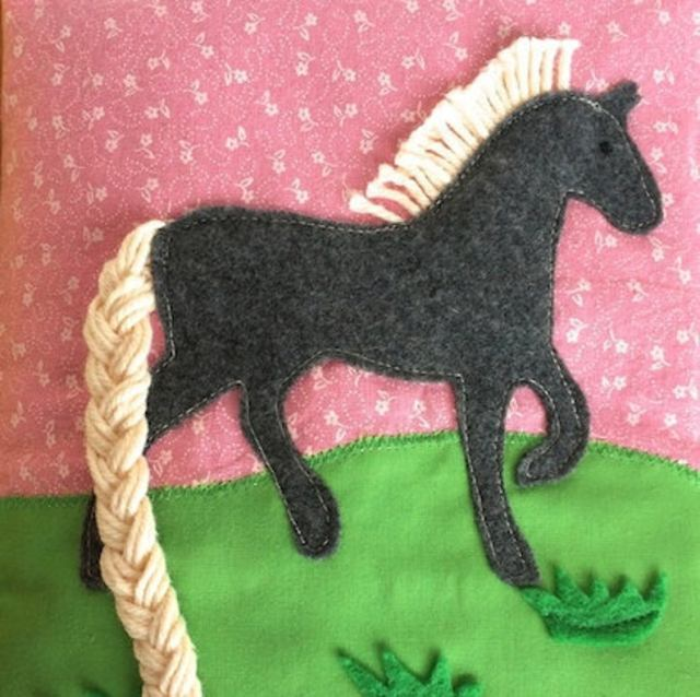 Horse quiet book pattern & tutorial