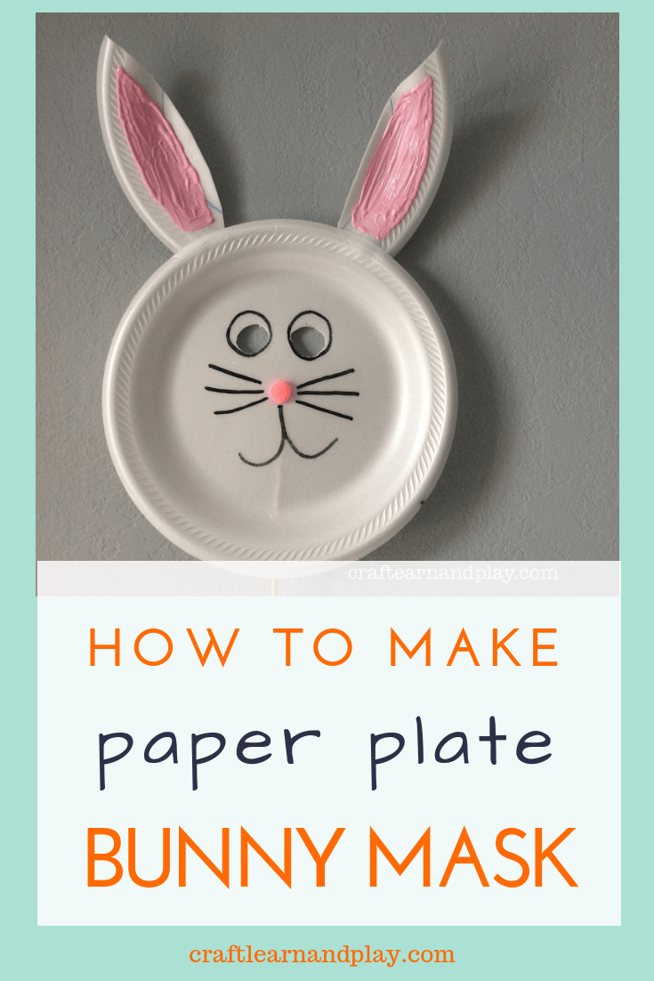 How to make paper plate bunny mask