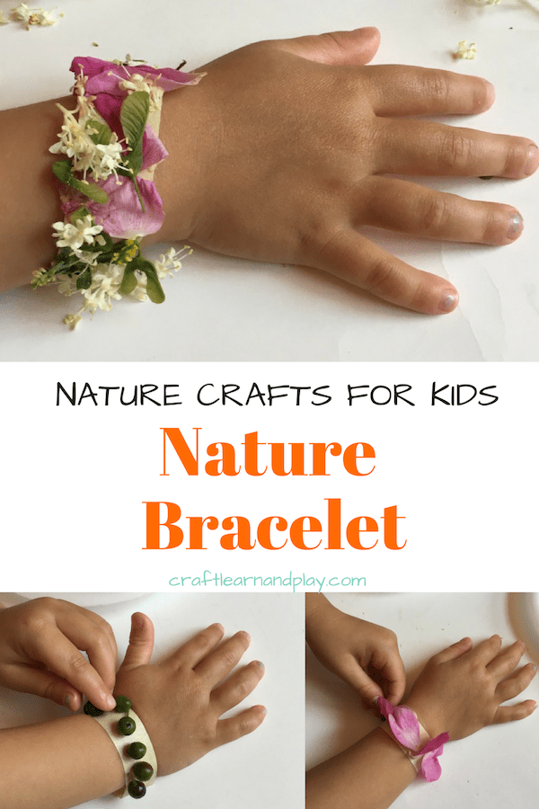 Nature bracelets are ideal for little ones who love craft on their own. Easy to make and for girls of any age. Click for details.