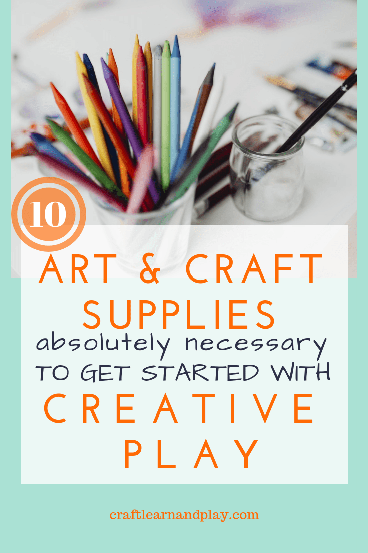 What art and craft supplies you need to get started with creative play