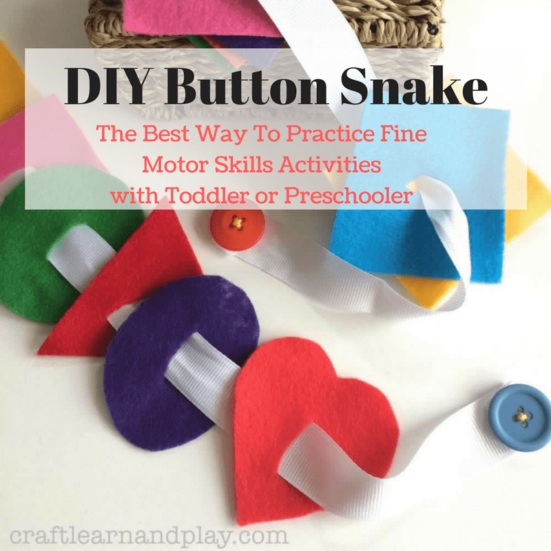this simple diy toy is the best way to practice fine motor skills activities button snake. Black Bedroom Furniture Sets. Home Design Ideas