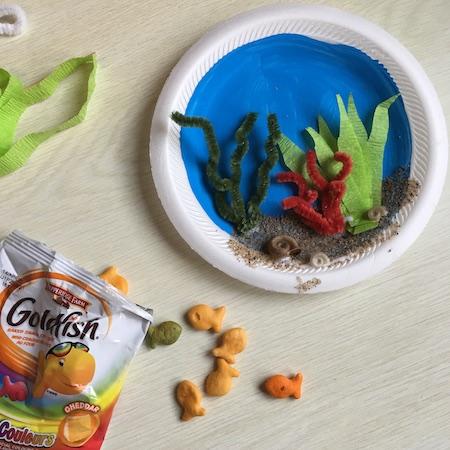 goldfish craft ideas paper plate aquarium