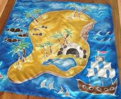 Pirate island play mat