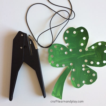 lacing shamrock toy - hole puncher