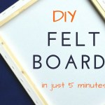 How To Make DIY Felt Board In Just 5 Minutes