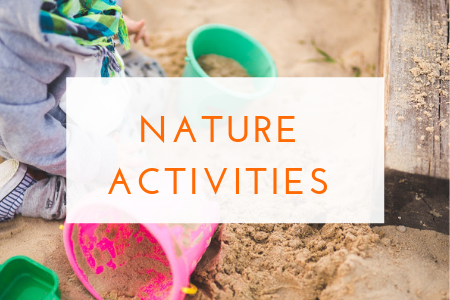 nature inspired activities and outdoor play