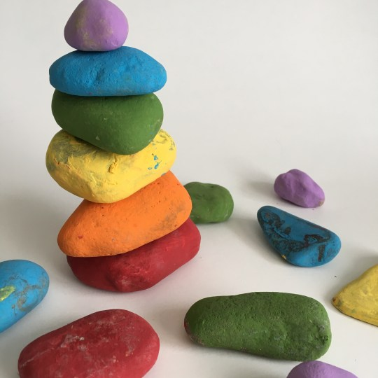 Easy rock paint craft for kids