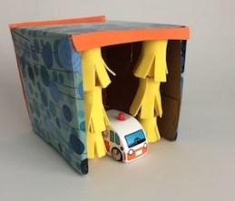 tissue box car wash toy