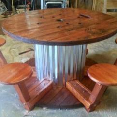 Spool Chair For Sale Frank Lloyd Wright Dining How To Make Wire Table By Corrie Craftlog