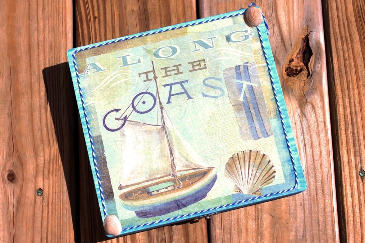 Κουτι για μαρτυρικα βαπτισης με θεμα θαλασσινο