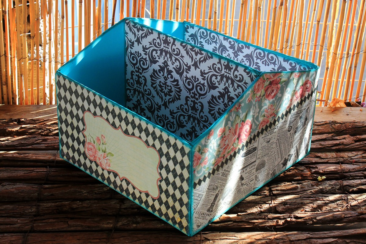 Κουτι οργανωσης απο κουτι παπουτσιων