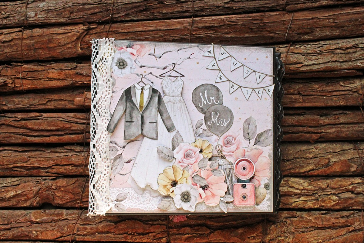 Mr & Mrs Mini 6x6 Scrapbooking album με την συλλογή Marry Me της  Karola Witczak στο Blog του Scraps n Pieces