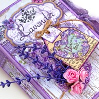 "Mini scrapbooking album ""Lavender"""