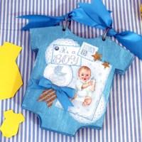 """""""It' s a boy"""" scrapbooking album, για τον πρώτο χρόνο του μωρού"""