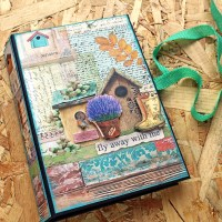 Scrapbooking trifold album 'Fly away'