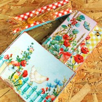 "Scrapbooking mini album in a box ""Spring"""