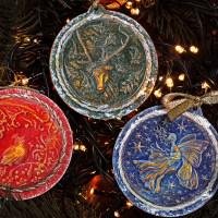 Christmas ornaments with clay/ Χριστουγεννιάτικα στολίδια με πηλό