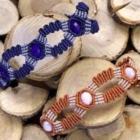 """Macrame bracelet """"Betty""""/ Μακραμέ βραχιόλι """"Betty"""""""