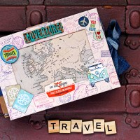 "Scrapbooking travel album ""Adventure"""