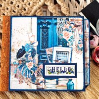 "Scrapbooking 6x6 inches album ""Hello"""