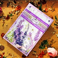 "Scrapbooking accordion hinge album ""Lavender"""