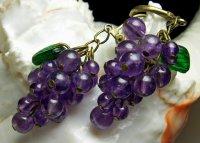 12 Elegant Grape Style Dangle Earring Designs - Craft Minute