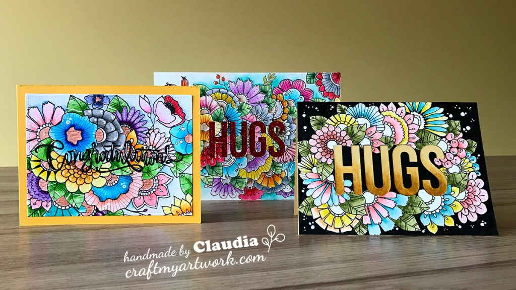 Card_hand_drawn_doodle_flowers_watercolor_3_versions
