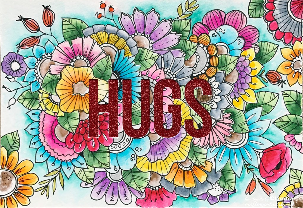 20170304_Card_hand_drawn_doodle_flowers_watercolor_diecut_hugs