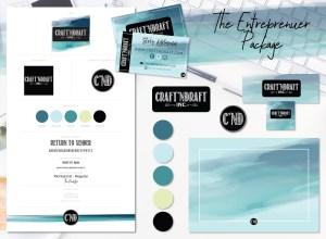 Entreprenuer Logo and Branding - CraftnDraft Inc