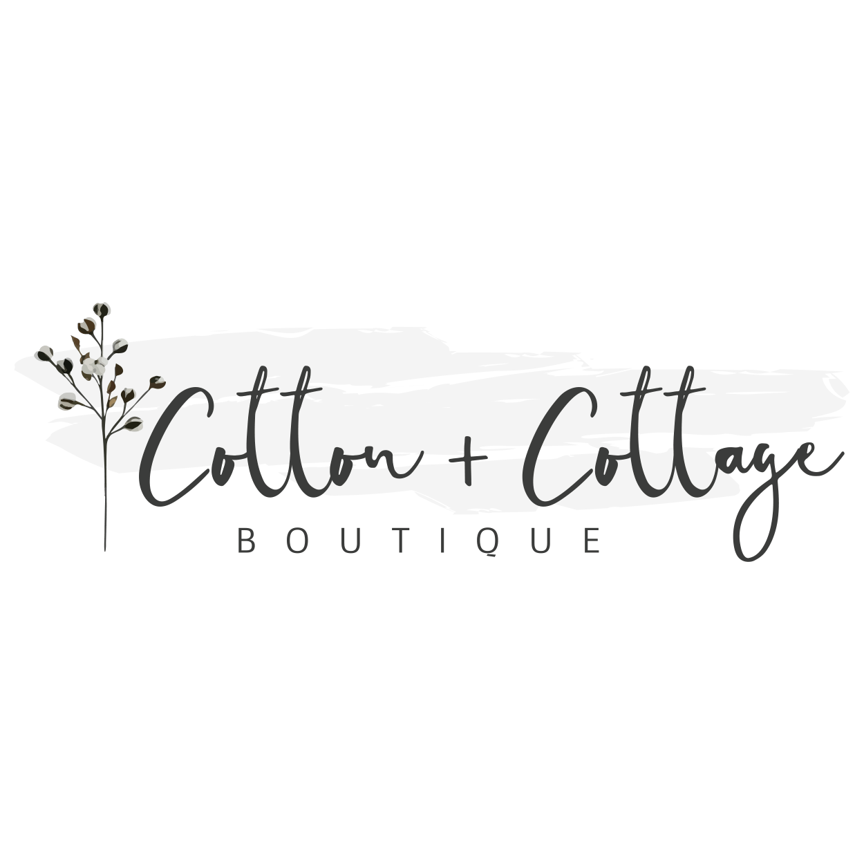 Cotton and Cottage Logo - CottonStemDesignCo - CraftnDraft Inc
