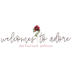 Welcomes to Adore Logo - Designed by CraftnDraft Inc