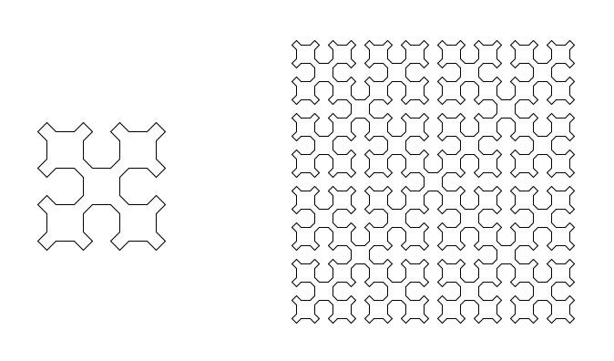 Recursive patterns – the Sierpinski curve