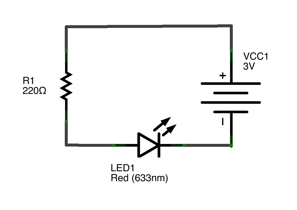 bump switch controlling an led using a switch