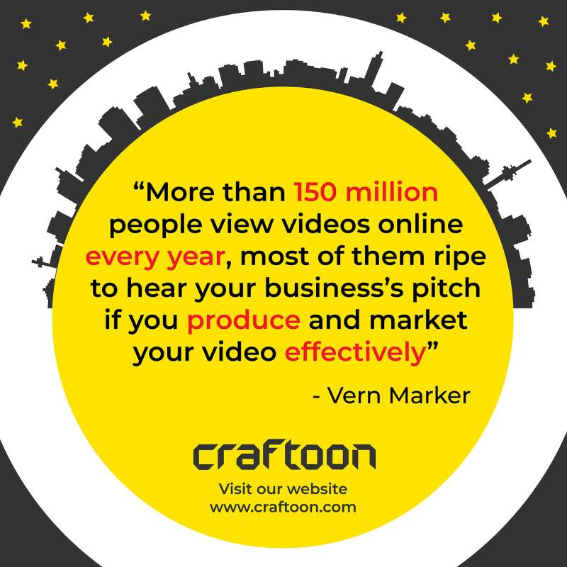 Craftoon - Vern Marker's quote about video efficiency