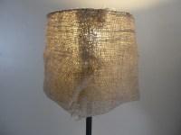 DIY Garden Burlap Lamp Shade - Craft Organic