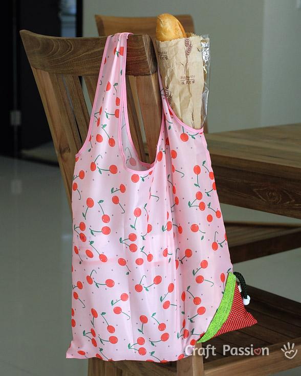 Grocery Bag Pattern Pdf : grocery, pattern, Strawberry, Reusable, Grocery, Pattern