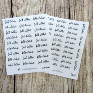 Fold Clothes Script Stickers