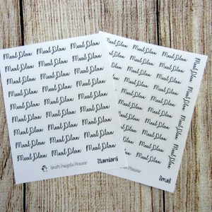 Meal Plan Script Stickers