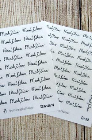 Meal Plan Script Stickers