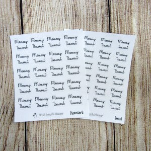 Mommy Timeout Script Stickers